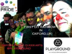 DIY Rainbow Crossings at Playground