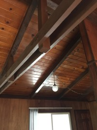 Dark Stained Pine Ceiling