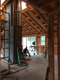 vaulted ceiling | TO THE STUDS