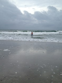 Tall Guy reverted to his childhood self and spent 90% of our vacation swimming in the ocean.