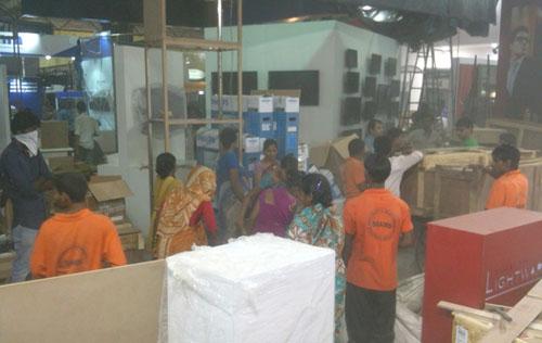 Setting up exhibition in Mumbai Exhibition center