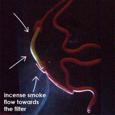 incense smoke blocked by Totobobo filters