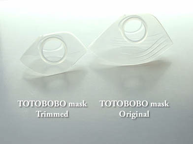 Transparent and soft mask body, almost like a second skin