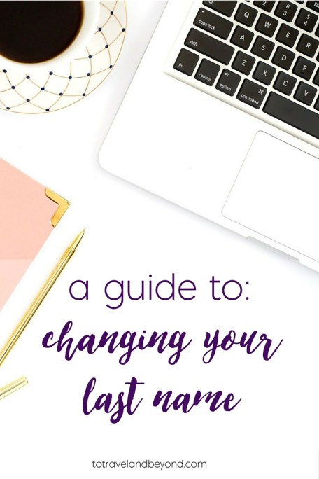 a guide to changing your last name