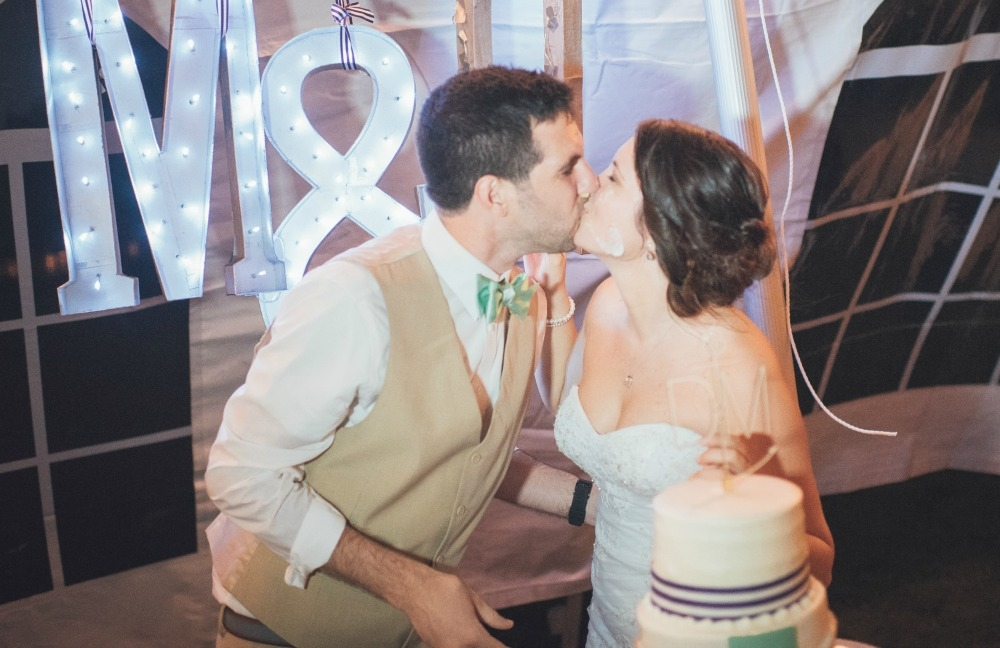 Wedding Wednesday Our Reception Cutting The Cake