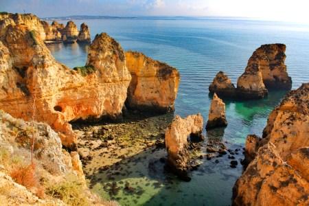 Ponta da Piedade on the Algarve coast of Southern Portugal, for Ellen Blazer's travel blog To Travel and Bloom