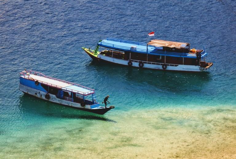 Ellen's liveabroad boat in Komodo National Park of Labuan Bajo, Flores, Indonesia