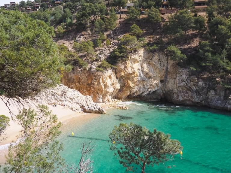 The coastline along Costa Brava