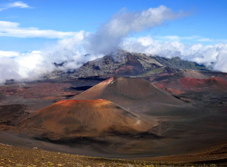 Haleakala Volcano and Clouds 1 scaled - Traveling to Maui during COVID may not be what you expect!