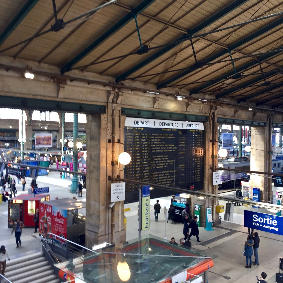 Picture of train station in Paris