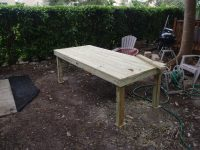 DIY Backyard Patio Table | To Travel is Better Than to Arrive