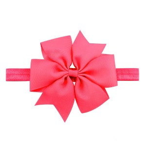 pink baby hair bow