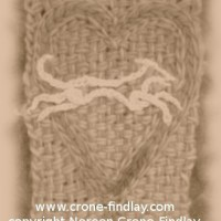 How to use tambour crochet to embroider a chain stitch heart on a small loom