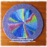 How to weave a circle of any size on a Peg Loom