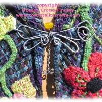 Garden Shawl woven on Triangle loom