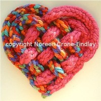 Woven and Spool knitted Heart