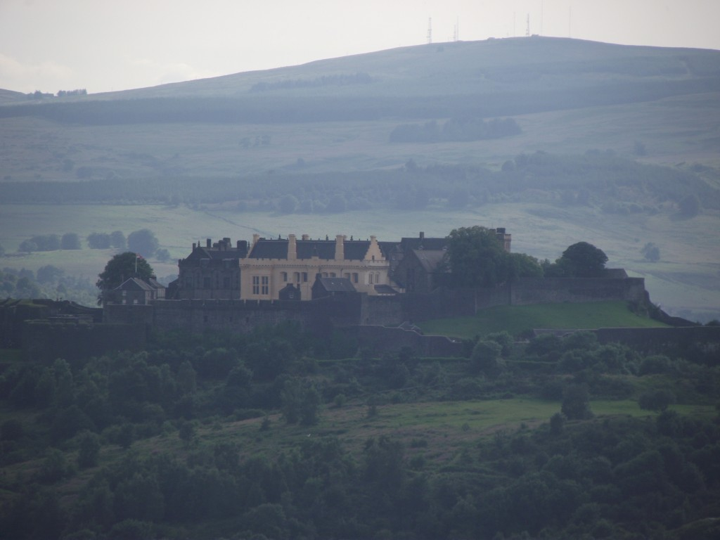 The view of Stirling Castle from the foot of Wallace Monument