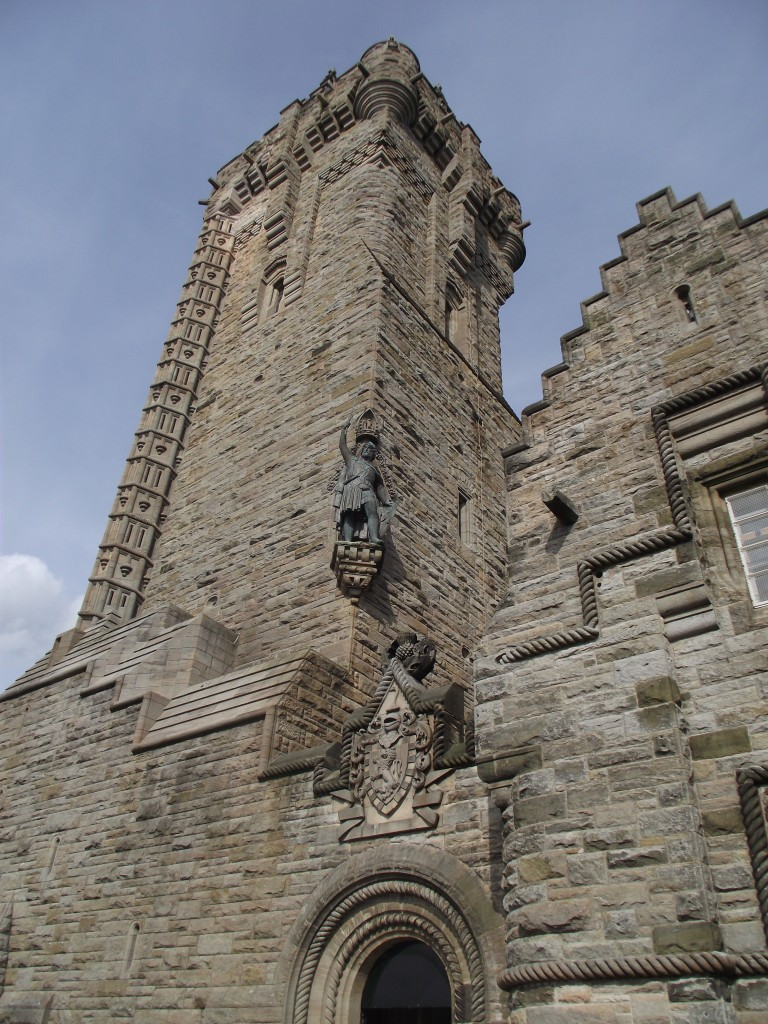 Looking up at the Wallace Monument – no, I didn't climb it – I've no head for heights!