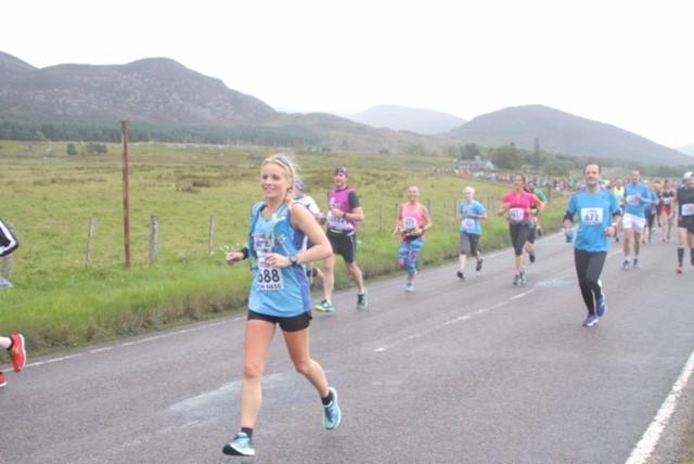 Sarah Runs Loch Ness Marathon for Charity