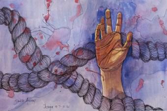 Jesaja dag 12 gedig en skets