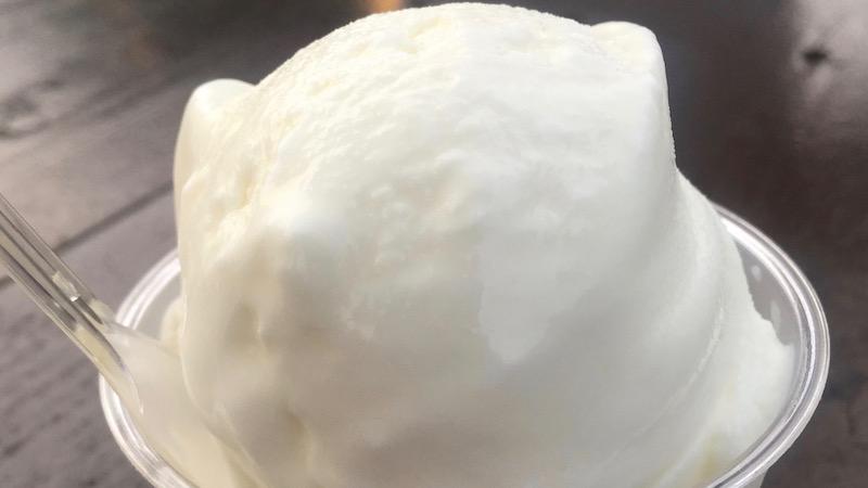 アイスヨーグルトを食べたくて 富士山高原いでぼく ミルクハウス