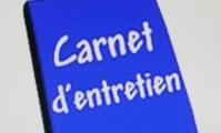 Carnet entretien