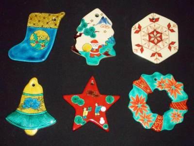 九谷焼陶器のクリスマスオーナメントBセットchristmas-ornament
