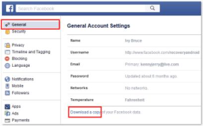 كيف تحصل على نسخة أرشيفية من حسابك على فيس بوك