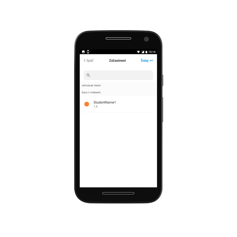 School assignments in mobile application for students