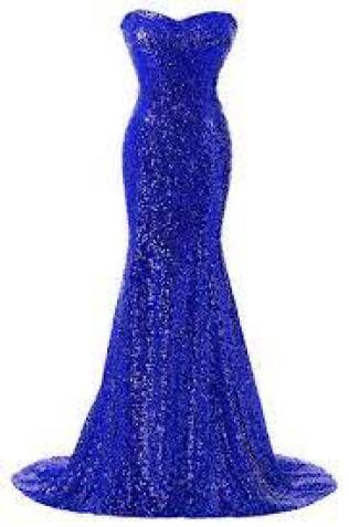 Amazon.com: Rongstore Women's Strapless Sweetheart Neck Mermaid Sequins Long Evening Gown Fo… | Long evening gowns, Evening dresses long, Strapless dress formal