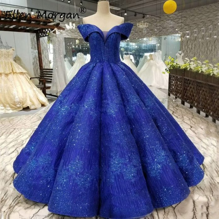 Glitter Royal Blue Ball Gowns Quinceanera Dresses 2020 Real Photos Off Shoulder Puffy Event Prom Party for Sweet 15 16 Girls|Quinceanera Dresses| - AliExpress