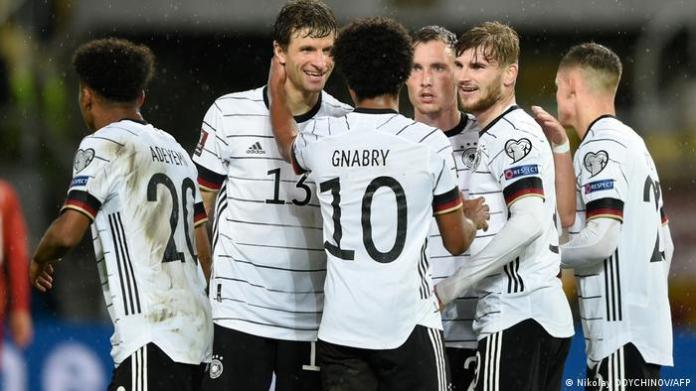 Germany win in wet Skopje to secure 2022 World Cup spot | Sports | German  football and major international sports news | DW | 11.10.2021
