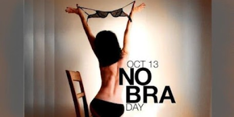 Not to show off your breasts, this is the goal of Celebrating No Bra Day on October 13 – 1NEWS