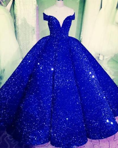 Sequin Quinceanera Dresses Ball Gown Off Shoulder – alinanova