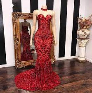 Long Elegant Red Mermaid Prom Dresses 2020 Sweetheart African Women Black  Girl Sequin Evening Dress Custom Made From Officesupply, $150.22 |  DHgate.Com