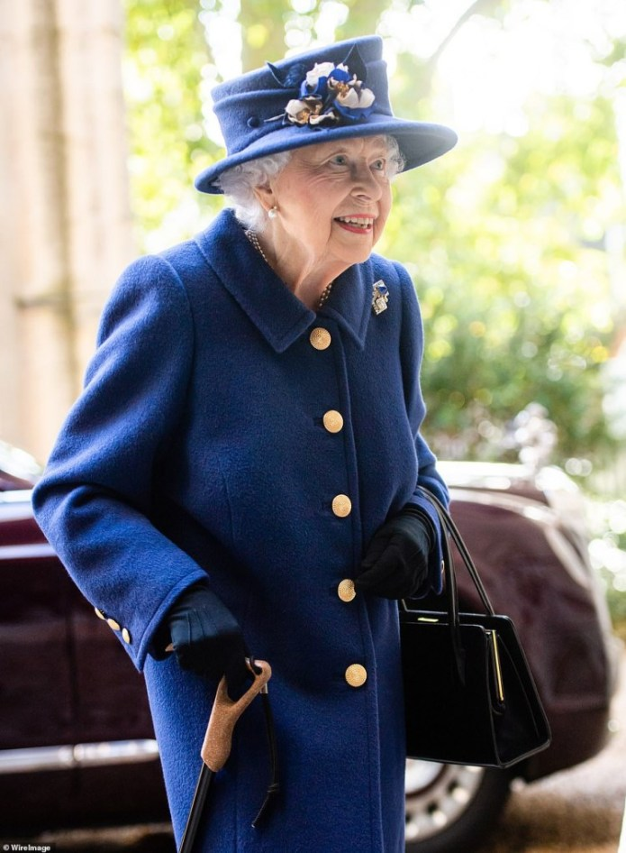 Queen England Uses Walking Stick As She Attends Thanksgiving Service