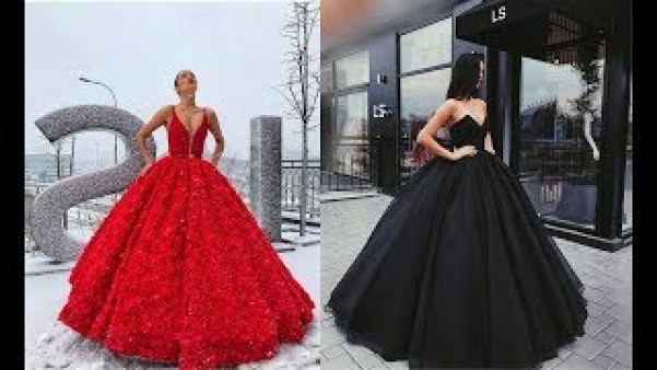 The most Beautiful Gowns in the world 2018!!! Fashion By Girls - YouTube