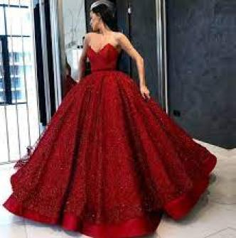 red lace ball gown - Online Discount -