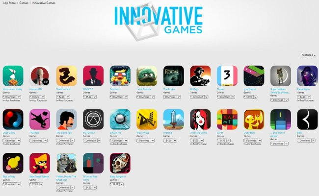 Apple Innovative Games Feature Has Mostly Paid Games
