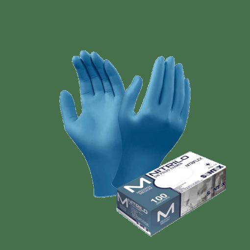 luvas azuis nitrilo
