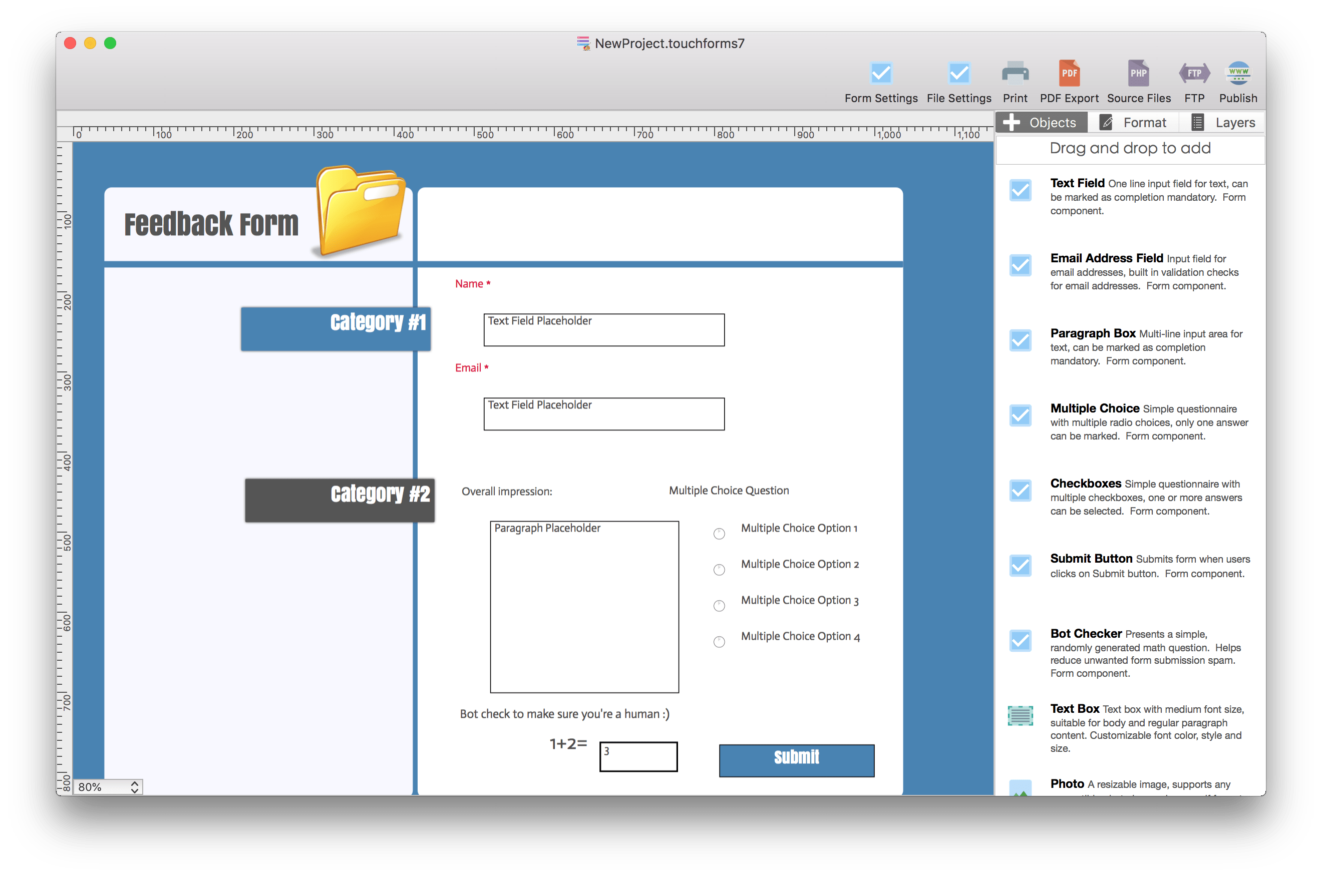 Touch Forms pro 7 for Mac 7.0.1 破解版 - 网页表单生成器