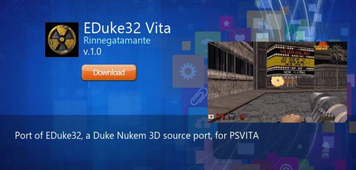 descargar eduke32 vita duke nukem 3d para ps vita