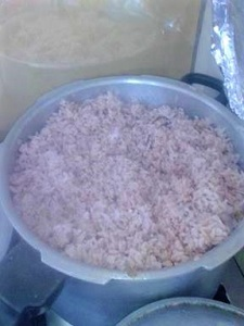 Rice and Gungo Peas