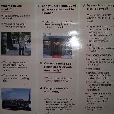 Rauchen ist auf Jamaika auch im Hotelzimmer und in den öffentlichen Bereichen verboten
