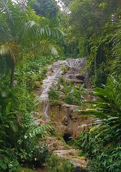 Die Konoko Falls in Ocho Rios Jamaika kann man genauso erklettern wie auch die Dunn's River Falls.