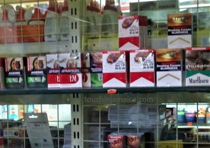 Auf Jamaika gibt es einige wenige internationale Zigarettenmarken zu kaufen, wie z.B. Marlboro, L&M oder Pall Mall.