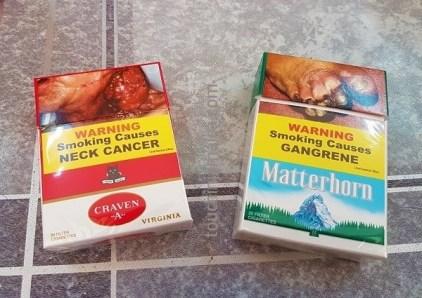 Die gängigsten, lokalen Zigarettensorten auf Jamaika: Carven A und Matterhorn.