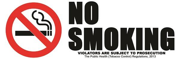 Rauchverbot Schild Jamaika