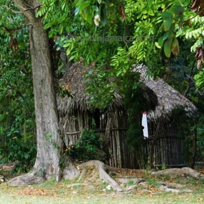 Typische Rundhütte der Taino auf Jamaika.