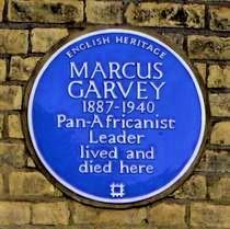 Plaque of Marcus Garvey in London